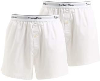 Calvin Klein Underwear 2 Pack Logo Cotton Boxers