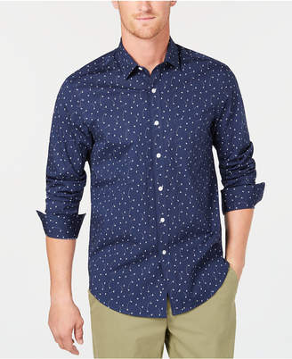 Club Room Men's Origami Printed Shirt, Created for Macy's