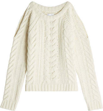 Anine Bing Pullover with Cut-Out Shoulders