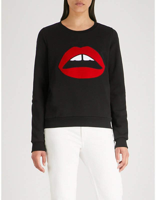 Leonie Lara Lip cotton-jersey sweatshirt