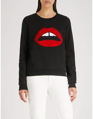 Markus Lupfer Leonie Lara Lip cotton-jersey sweatshirt