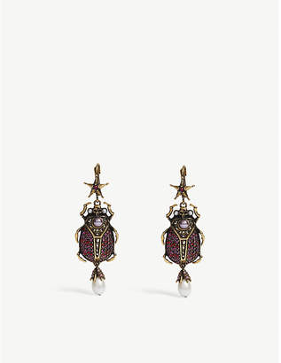 Alexander McQueen Beetle drop earrings