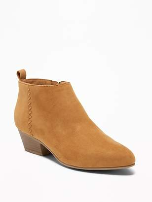 Old Navy Faux-Suede Ankle Boots for Women