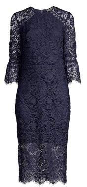 Shoshanna Louisa Lace Midi Dress