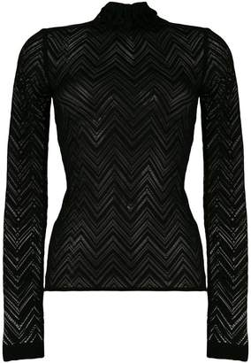 Roland Mouret sheer knitted top