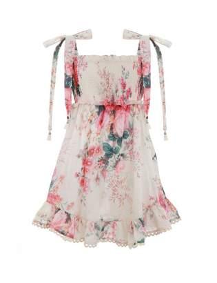 Zimmermann Laelia Shirred Short Dress