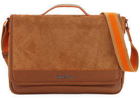 Robert Graham Large Suede Messenger Bag