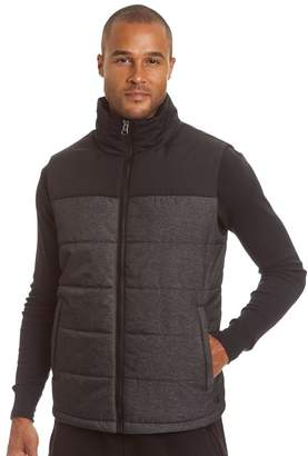 Champion Men's Colorblock Quilted Hooded Puffer Vest