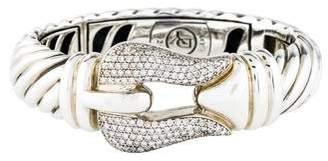 David Yurman Diamond Large Cable Buckle Bracelet