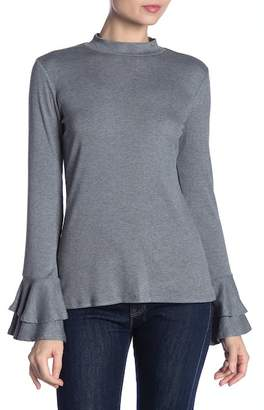 1 STATE 1.State Bell Sleeve Top