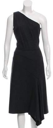 Michael Kors One-Shoulder Virgin Wool Dress