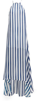 Alexandra Miro Sofia Blue Stripe Maxi Dress