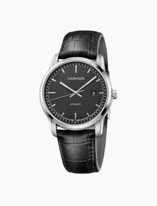 Calvin Klein Infinite Too Automatic Leather Watch