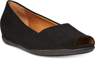 Bare Traps Jesse Memory Foam Peep-Toe Flats Women's Shoes