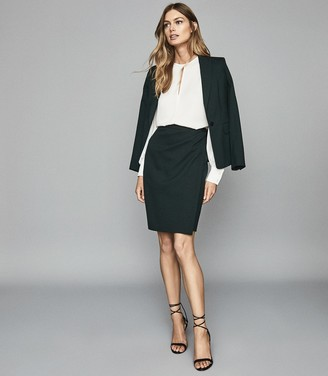 Reiss GINNIE SKIRT TAILORED PENCIL SKIRT Bottle Green