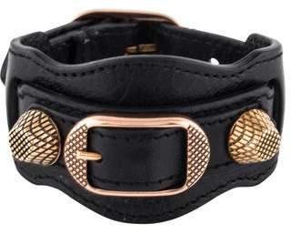 Balenciaga Giant Leather Wrap Bracelet w/ Tags