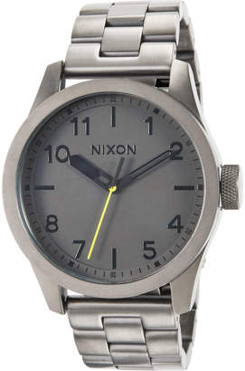 Nixon 43mm Safari Bracelet Watch, Gunmetal