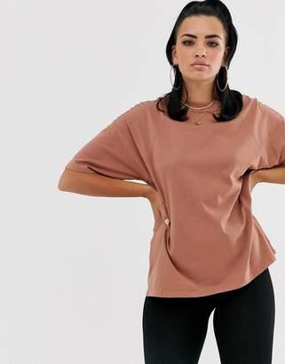 Asos Design DESIGN super oversized t-shirt with seam detail in brown