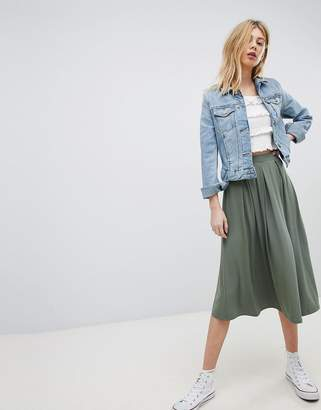 Asos DESIGN midi skirt with box pleats