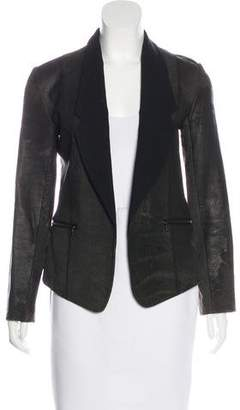 Alexander Wang Wool-Trimmed Leather Blazer
