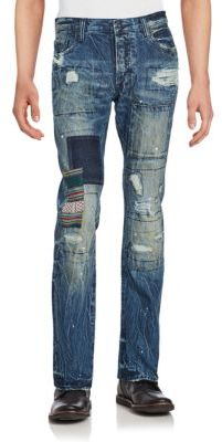 Distressed Five-Pocket Jeans $385 thestylecure.com