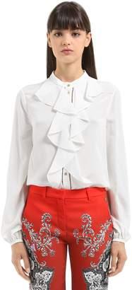 Roberto Cavalli Ruffled Silk Shirt