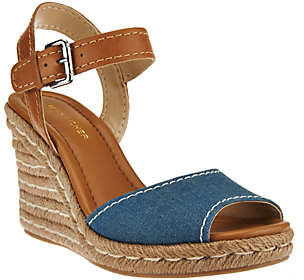 Marc Fisher Peep-toe Espadrille Wedges -Maiseey