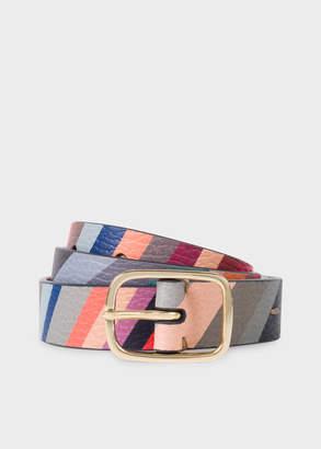 Paul Smith Women's 'Swirl' Print Calf Leather Belt