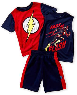 Isaac Morris (Boys 4-7) 3-Piece The Flash Tee & Shorts Set