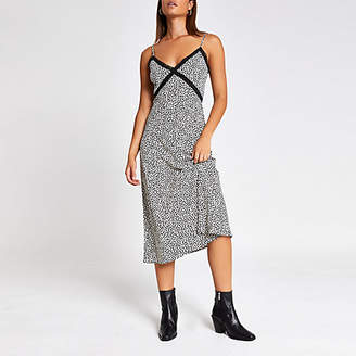 River Island Black heart print lace maxi dress