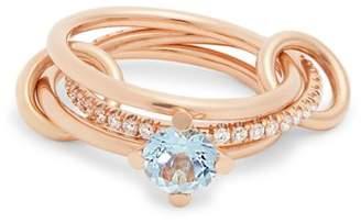 Spinelli Kilcollin - Astral Aquamarine, Diamond & Rose Gold Ring - Womens - Rose Gold