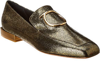 Salvatore Ferragamo Lana Metallic Leather Loafer
