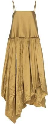 Marques Almeida Marques'Almeida gathered silk midi-dress