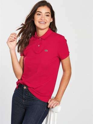 Lacoste Short Sleeve Ribbed Polo Shirt - Regular