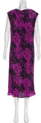 Bottega Veneta Strapless Printed Dress