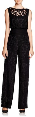 Tadashi Shoji Sleeveless Blouson Lace Jumpsuit $428 thestylecure.com