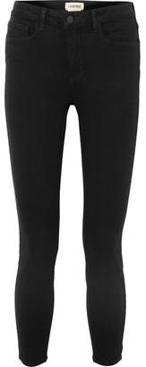 L'Agence The Margot Cropped High-rise Skinny Jeans - Black