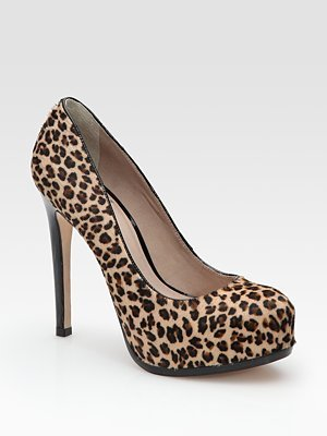 Ivette Leopard-Print Calf Hair Pumps