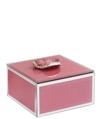 Jay Import Pink Agate Trinket Box