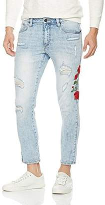 Nothing but Denim Men's Skinny Fit Ripped Jeans Vintage Style with Broken Holes (AM1020