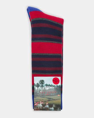Ted Baker BIRDEE Striped cotton socks