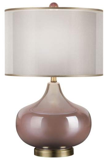 Jalexander Lighting JAlexander 'Rose Quartz' Iridescent Glass Table Lamp