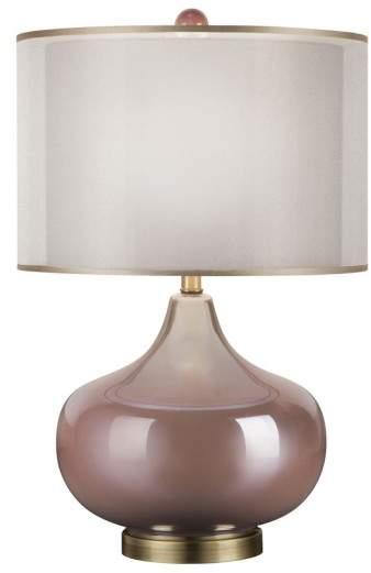 Jalexander Lighting JAlexander 'Rose Quartz' Iridescent Glass Table Lamp
