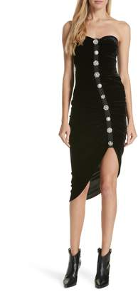 Veronica Beard Palo Strapless Velvet Dress