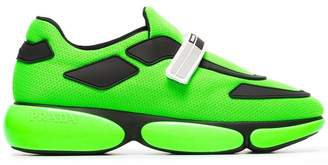 Prada Neon Green Cloudburst 40 leather trainers