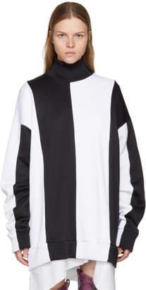 Marques Almeida Black and White Colorblocked Turtleneck