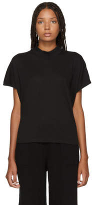 Raquel Allegra Black Mock Neck T-Shirt