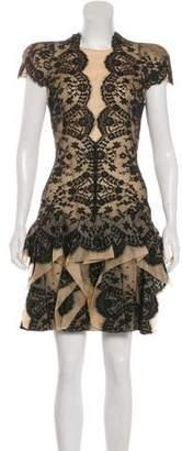 Alexander McQueen Ruffled Lace Dress