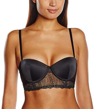 Wonderbra Women's Underwired Plain Everyday Bra - Black - 32B