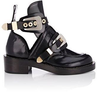 Balenciaga Women's Ceinture Ankle Boots-BLACK $1,275 thestylecure.com